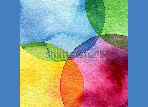 Circle Watercolor Background