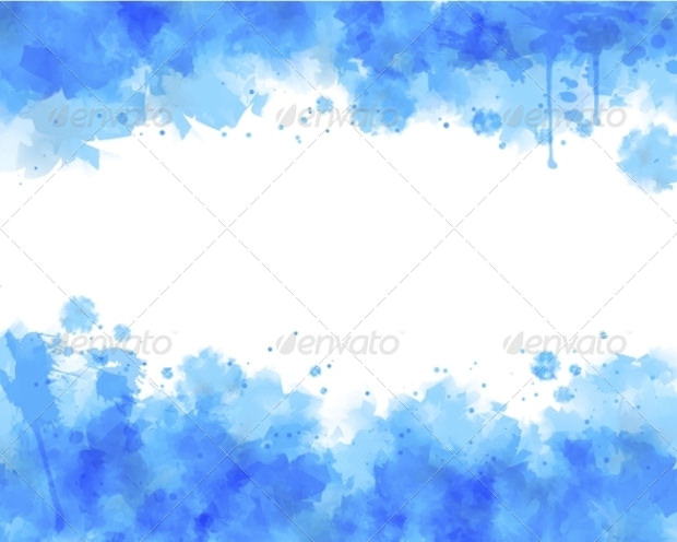 blue and white watercolor background