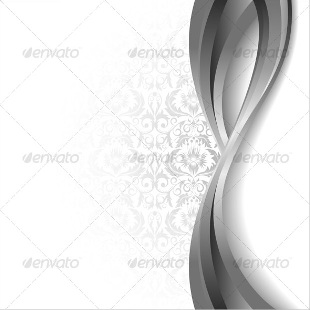 Silver with White Background