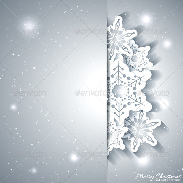 silver background for christmas greetings