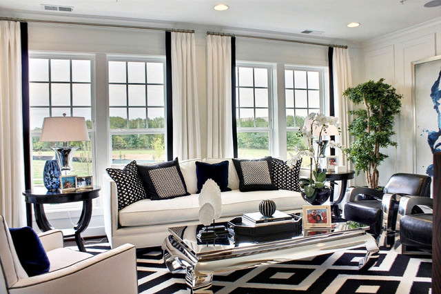white color walls with furniture