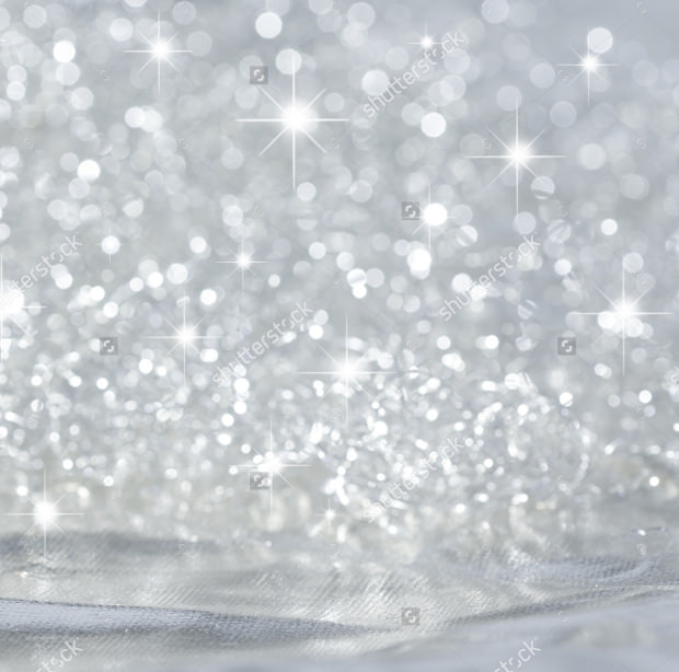 Silver Background with Stars