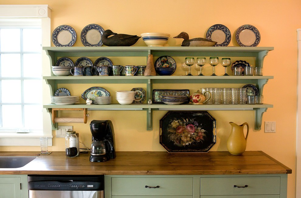 Stunning Kitchen Shelves Designs