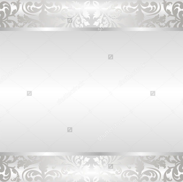 Shine Silver Background with Ornaments