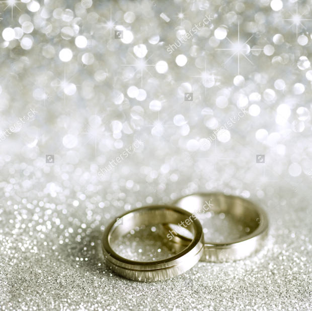 Beautiful Silver Background with Rings