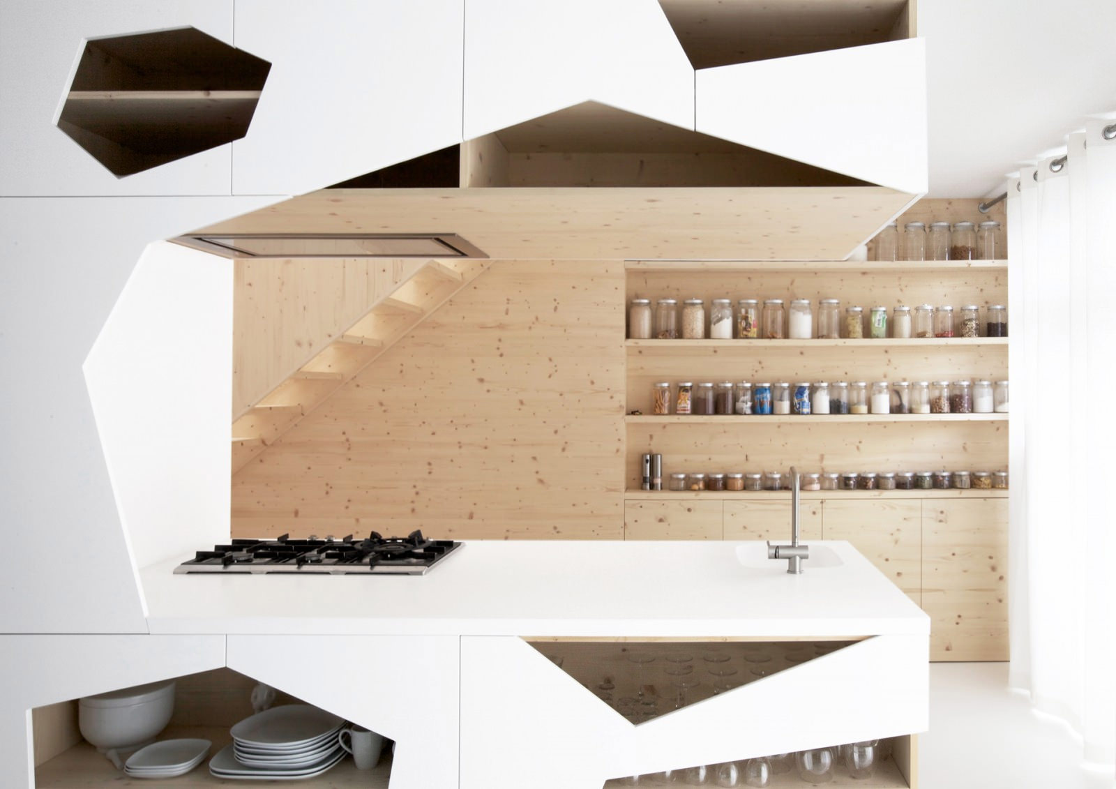 Open Stylish Kitchen Shelves