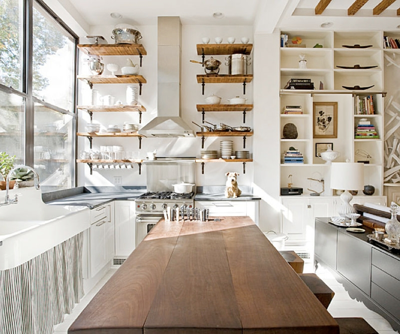 Amazing Open Kitchen Shelves