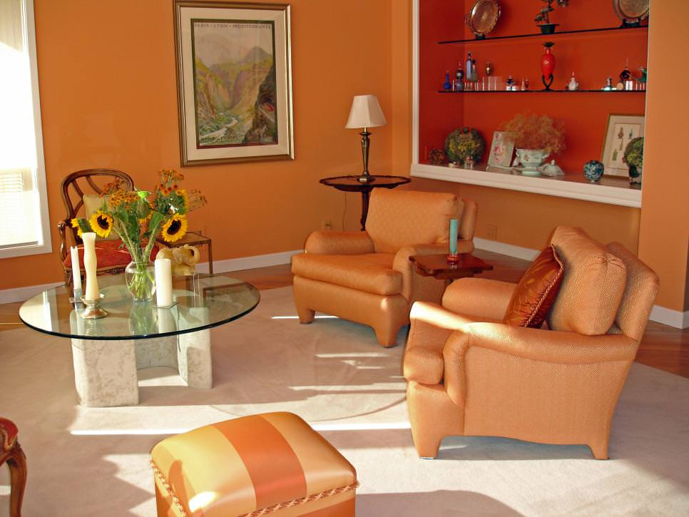 Bright Orange Living Room