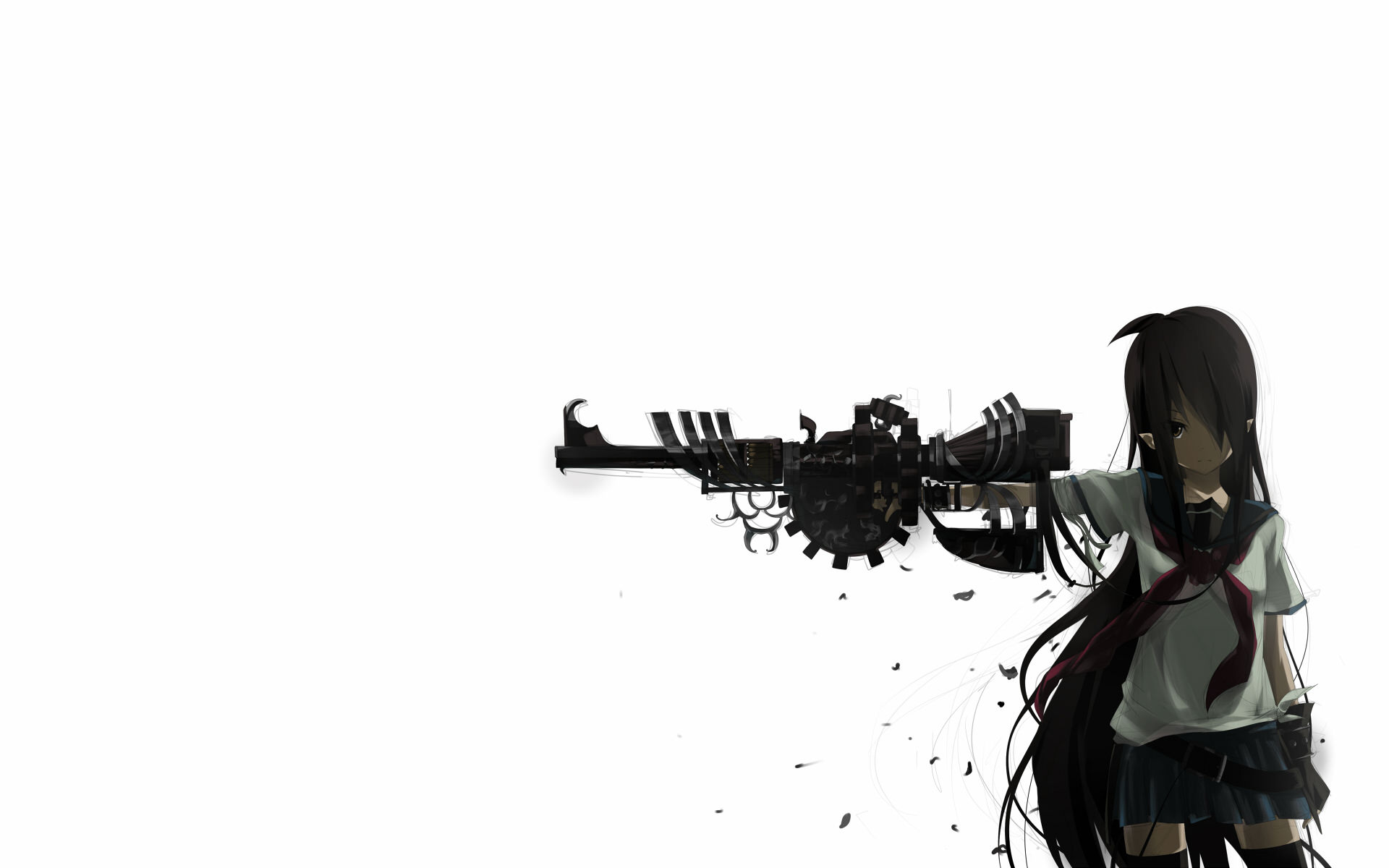30 beautiful girl backgrounds design trends premium - Gun girl anime ...