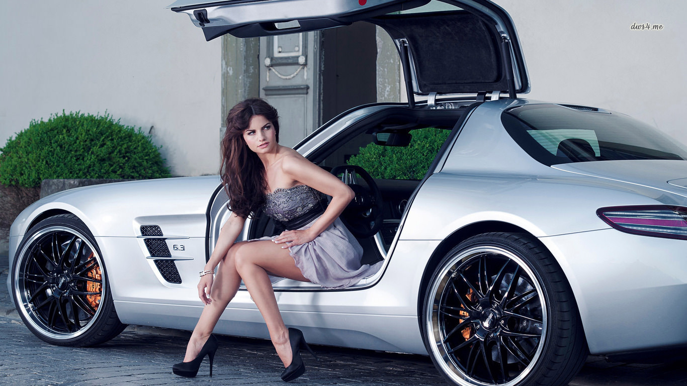 Beautiful Girl with Car