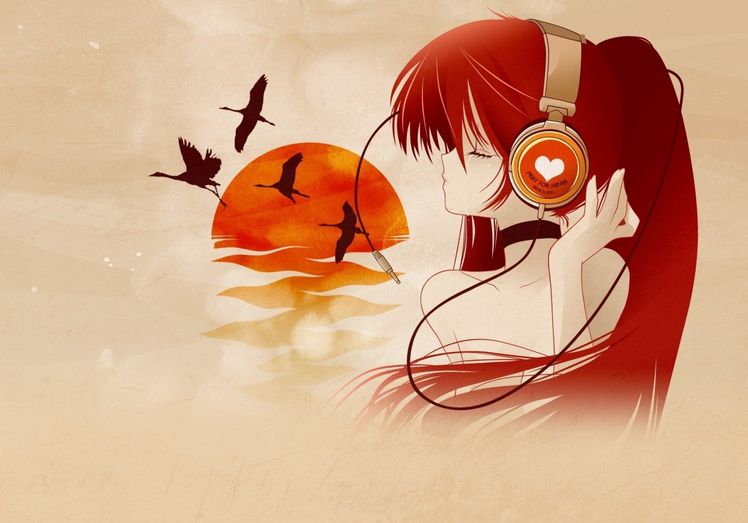 Anime Girl with Headset