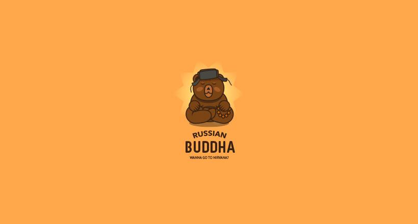 Russian Budda Bear Logo
