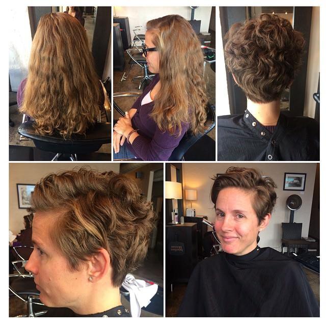 wavy pixie hair style