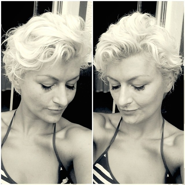 White Pixie Haircut