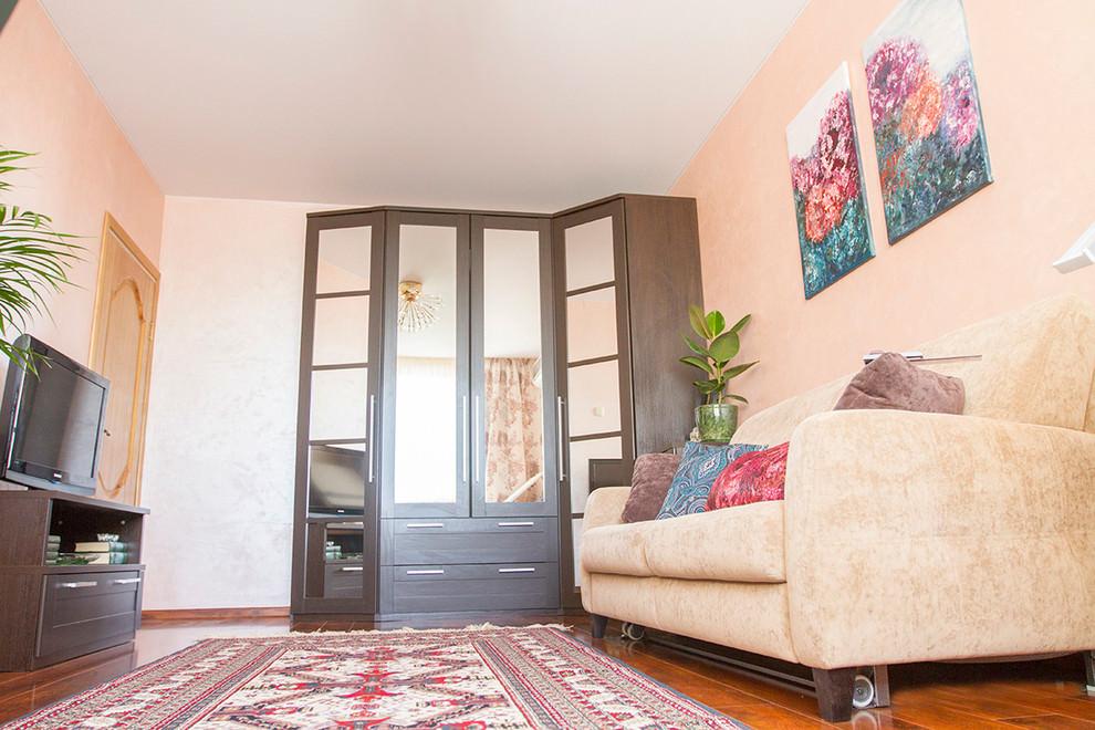 pink living room make over