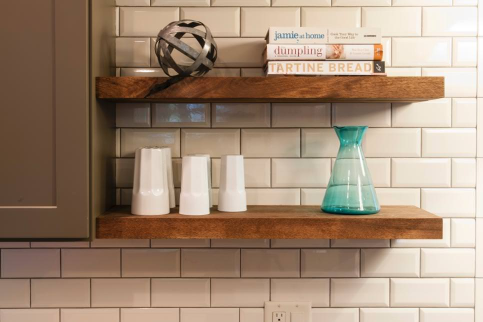 Hanging Wall Wooden Shelves
