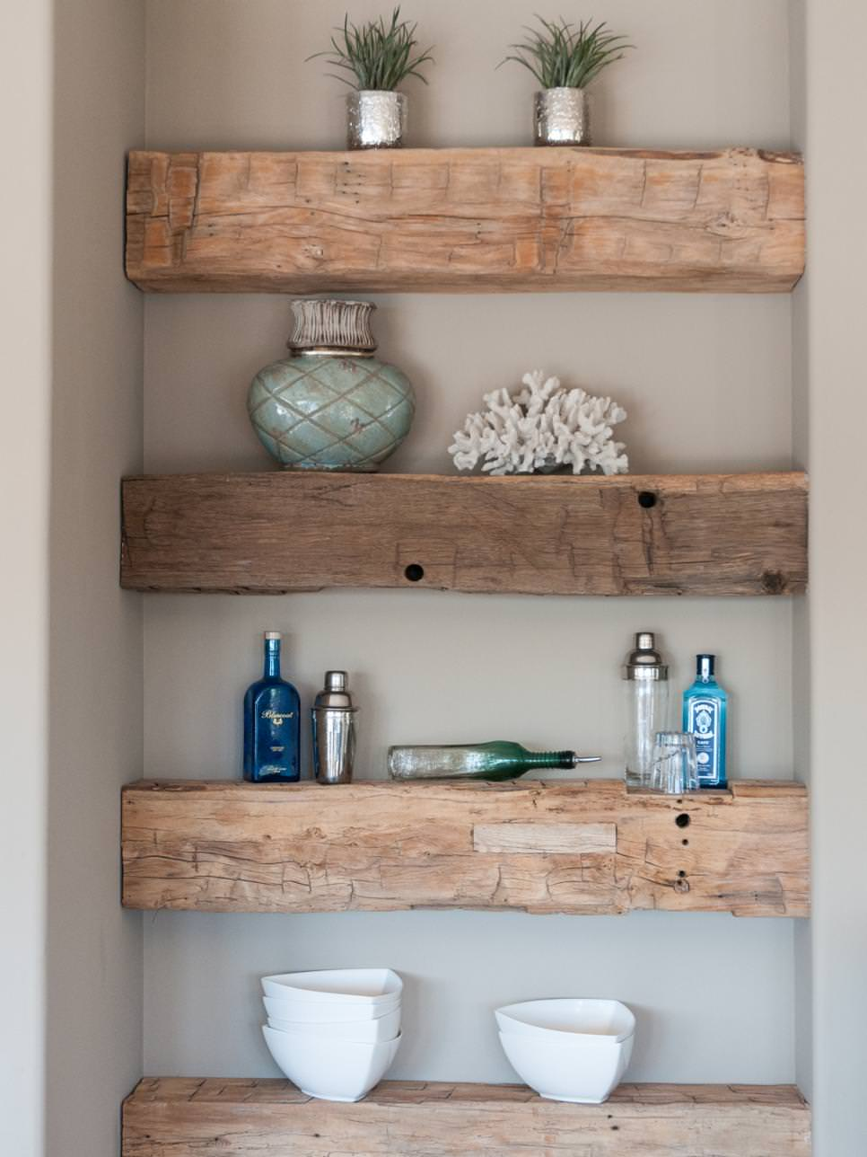 Rough Wooden Decor Shelves