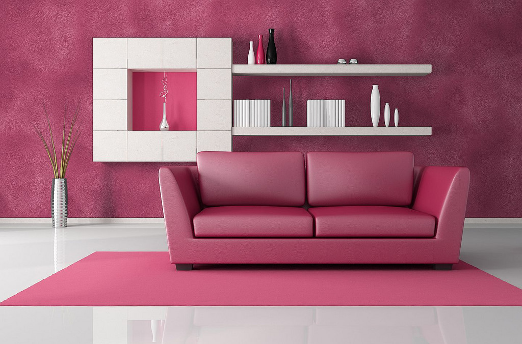 pink and black modern lounge