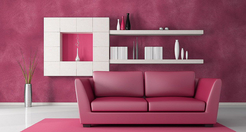 20+ Pink Living Room Designs, Decorating Ideas | Design Trends ...