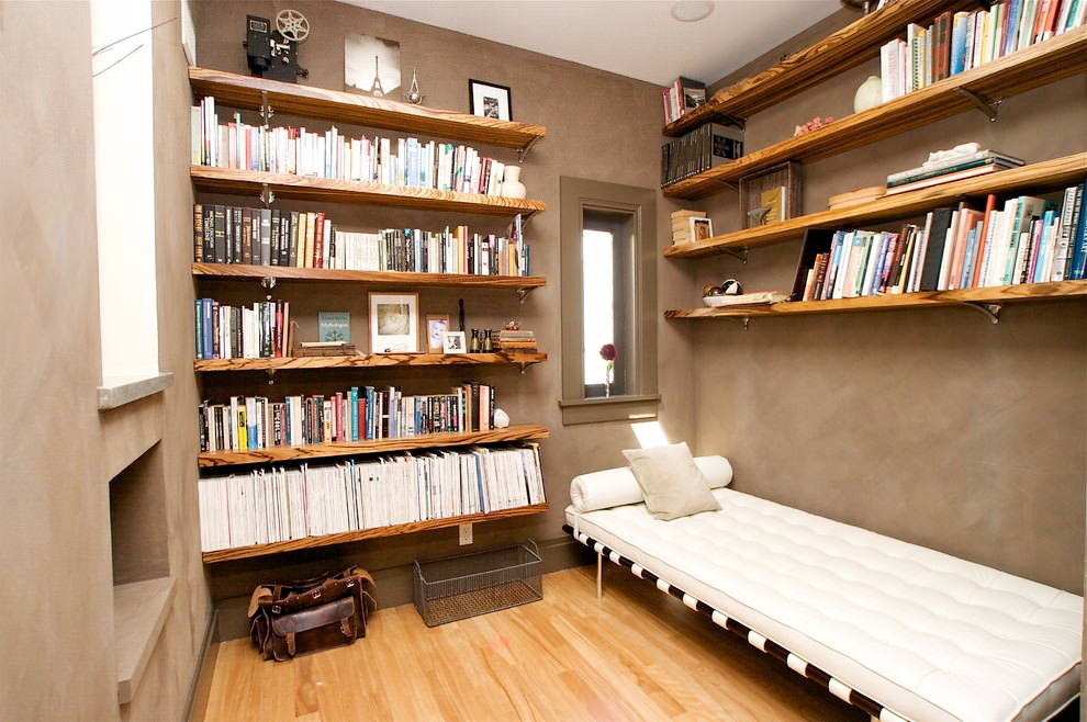 Amazing Book Wall Wooden Shelves