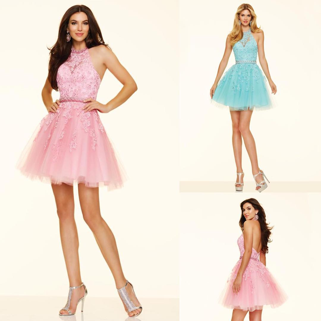 Pink and Blue Party Dress