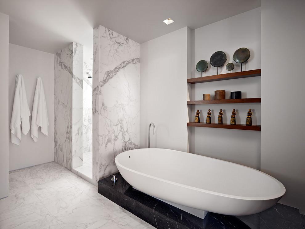 classic bathroom wooden shelves