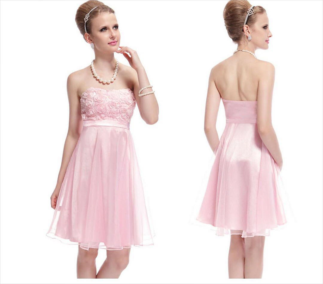 Pink Colored Party Dress