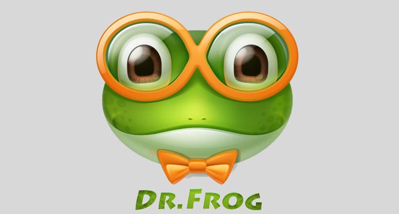 Dr.Frog Logo design