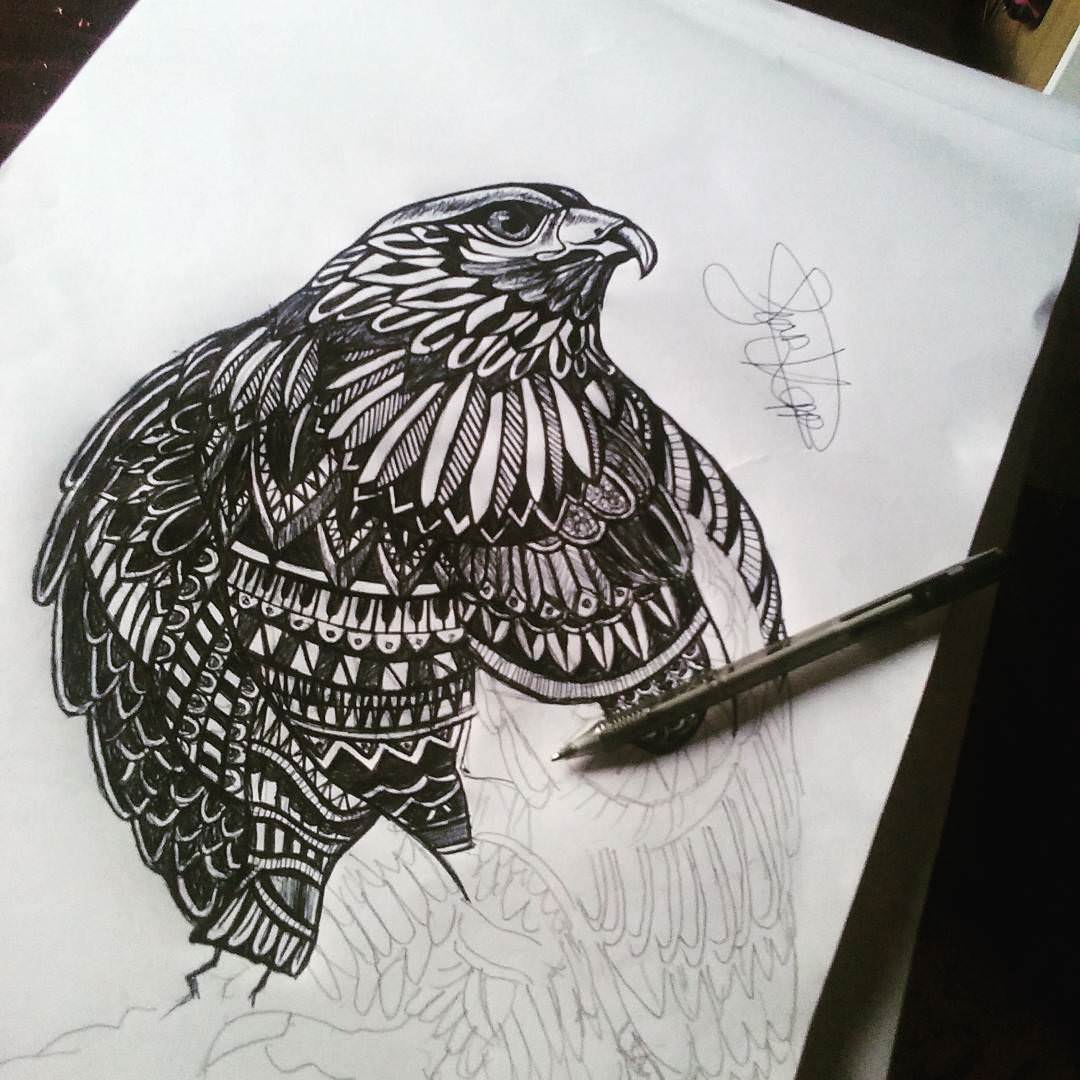 Beautiful pen drawing