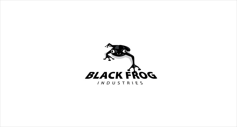 Black Frog Logo design