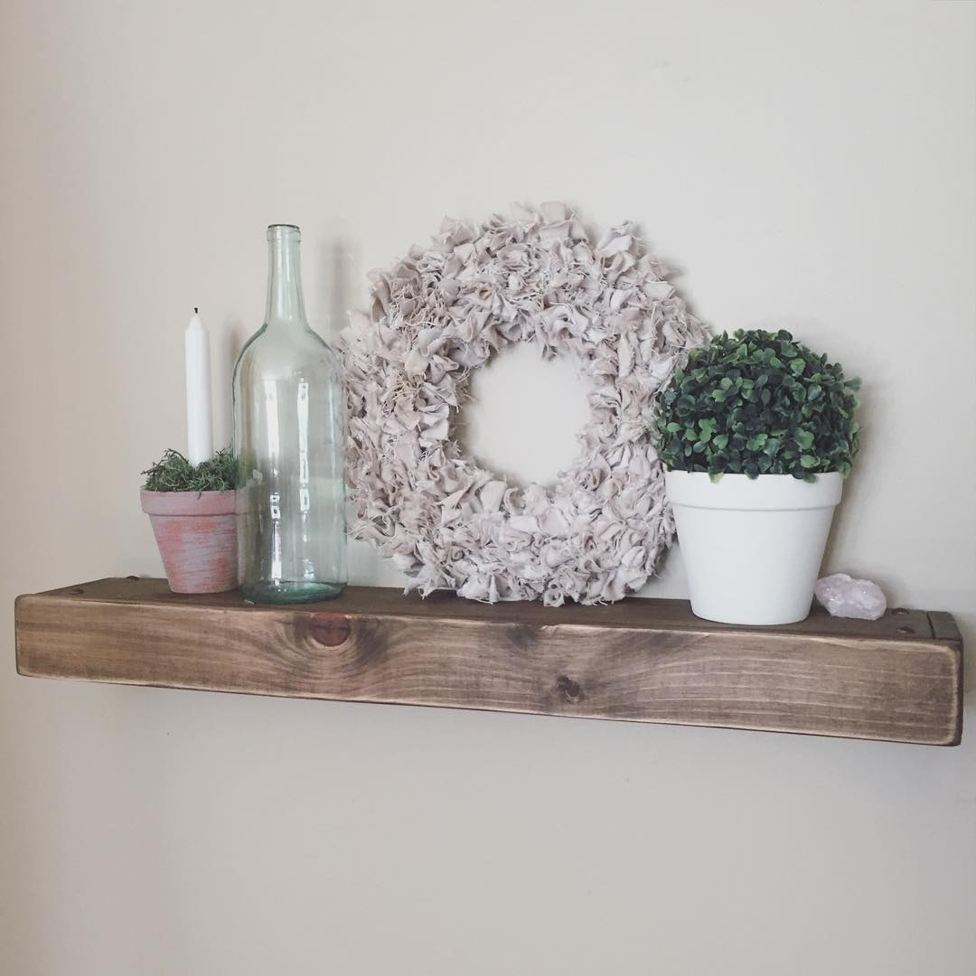wonderful rustic wood diy shelves