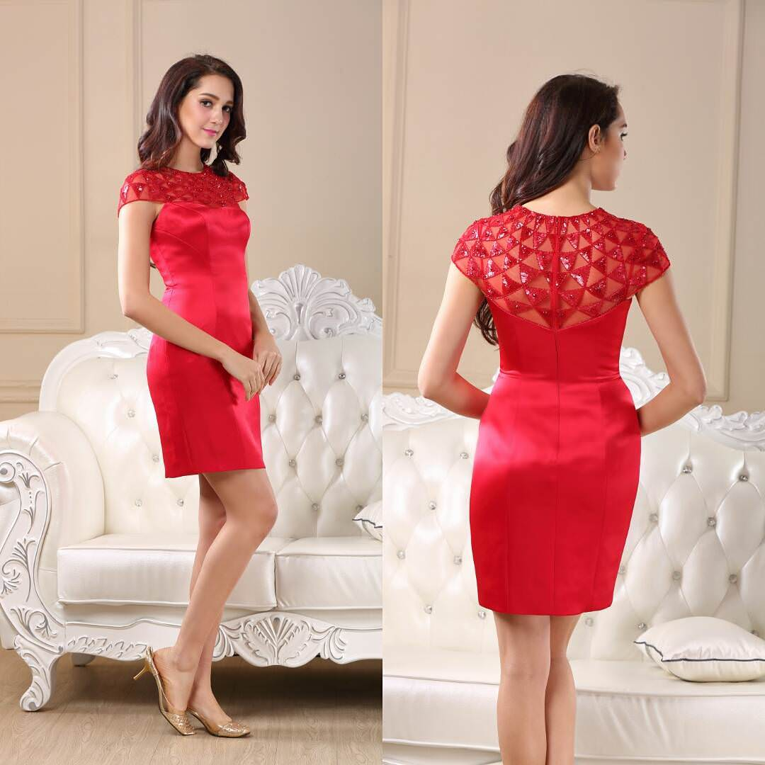 Red Colored Cocktail Dress