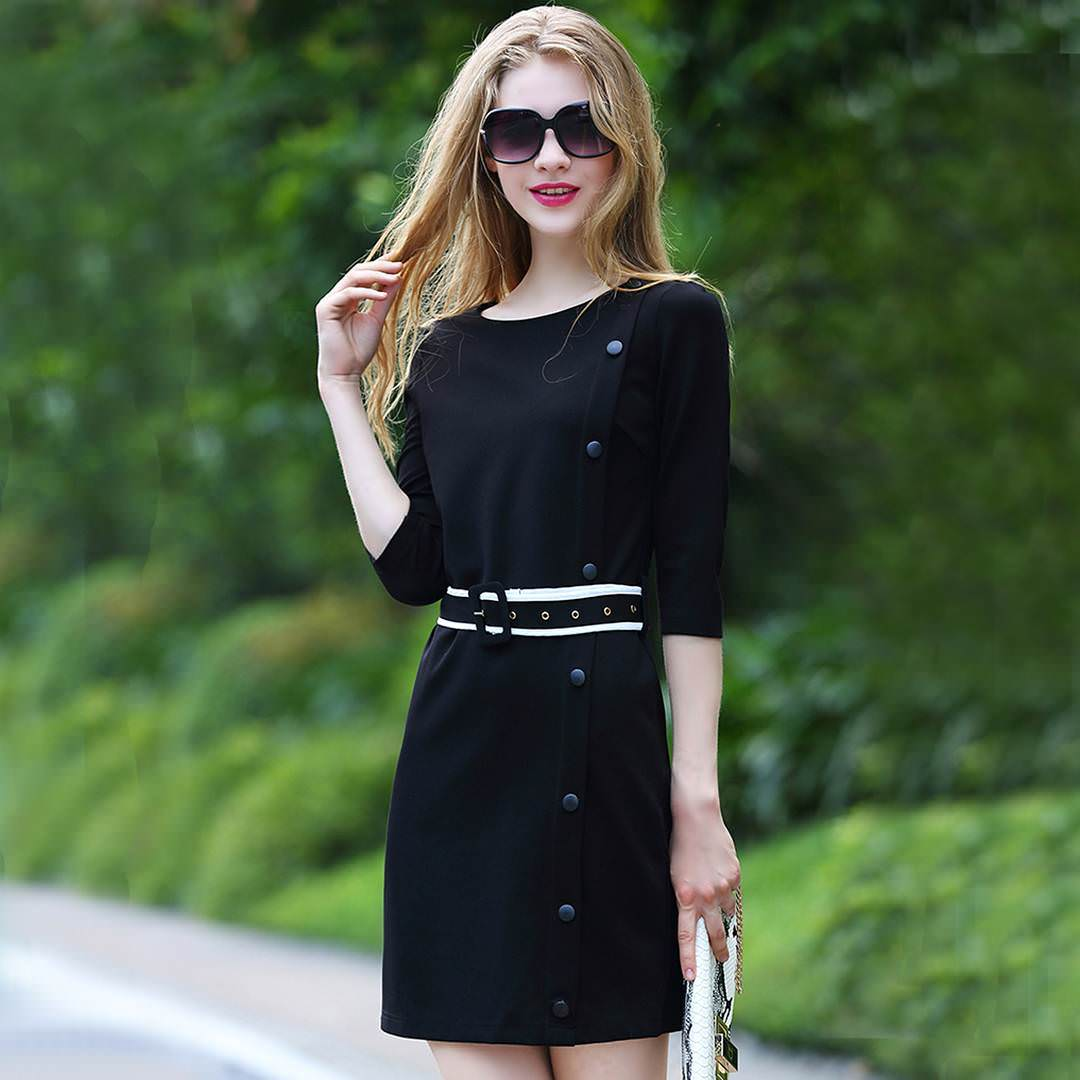 Peppy Style Black Dress