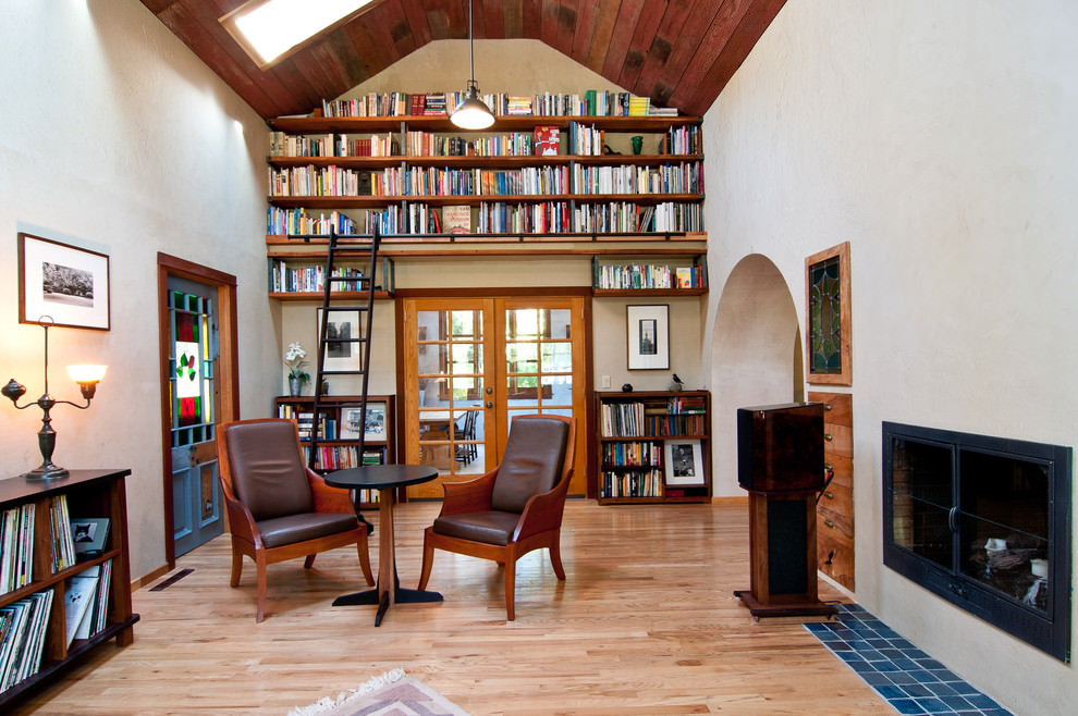 Traditional Living Room DIY Shelves