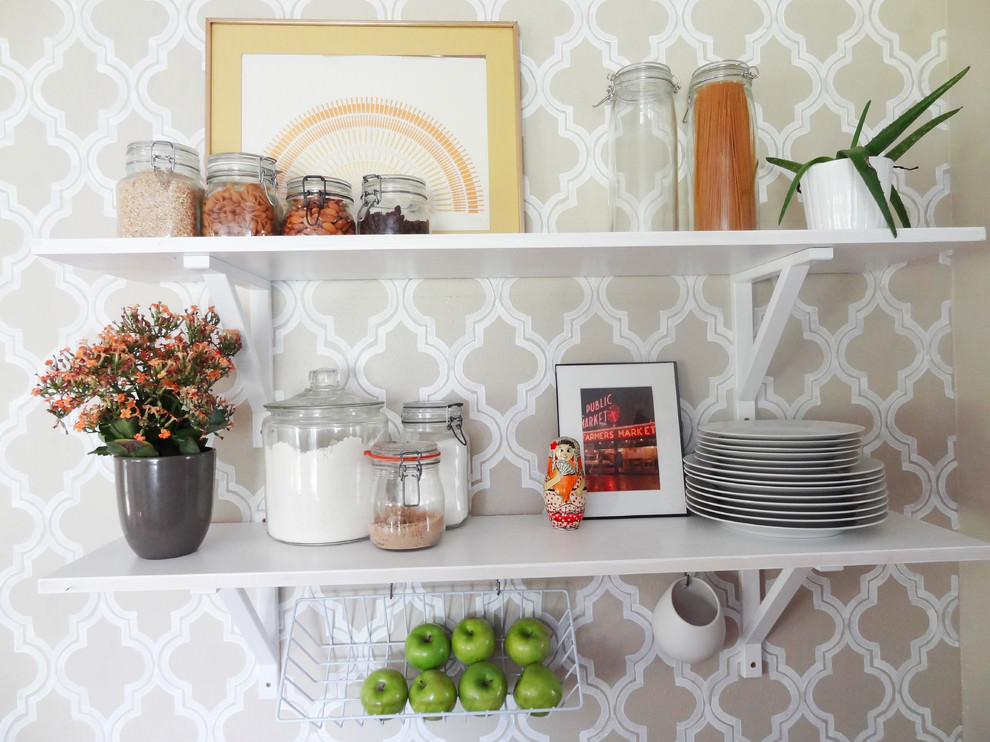 elegant kitchen diy shelves