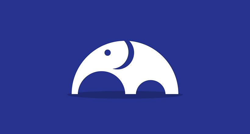 Beautiful Elephant Logo