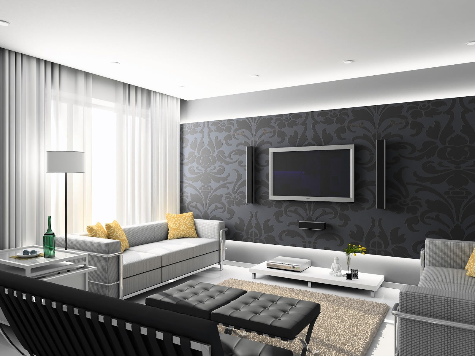 16 modern living room designs decorating ideas design trends premium psd vector downloads. Black Bedroom Furniture Sets. Home Design Ideas