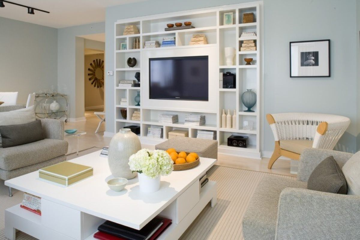 16 modern living room designs decorating ideas design for Modern living room shelving units