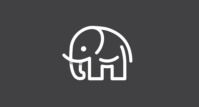 classy elephant logo