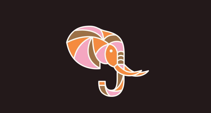 pretty elephant logo