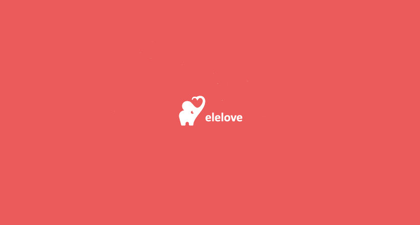 Elelove Logo with Elephant