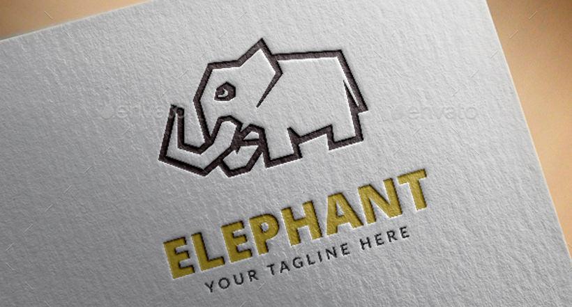 Awesome elephant Logo