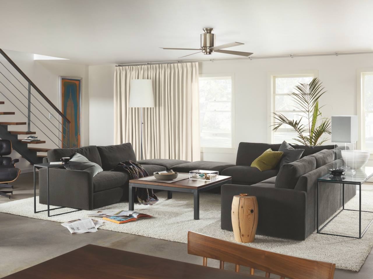 open square living room layout