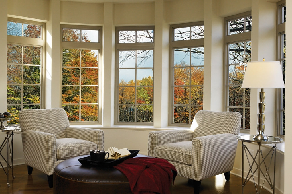 15 living room window designs decorating ideas design - Living room bay window treatments ...