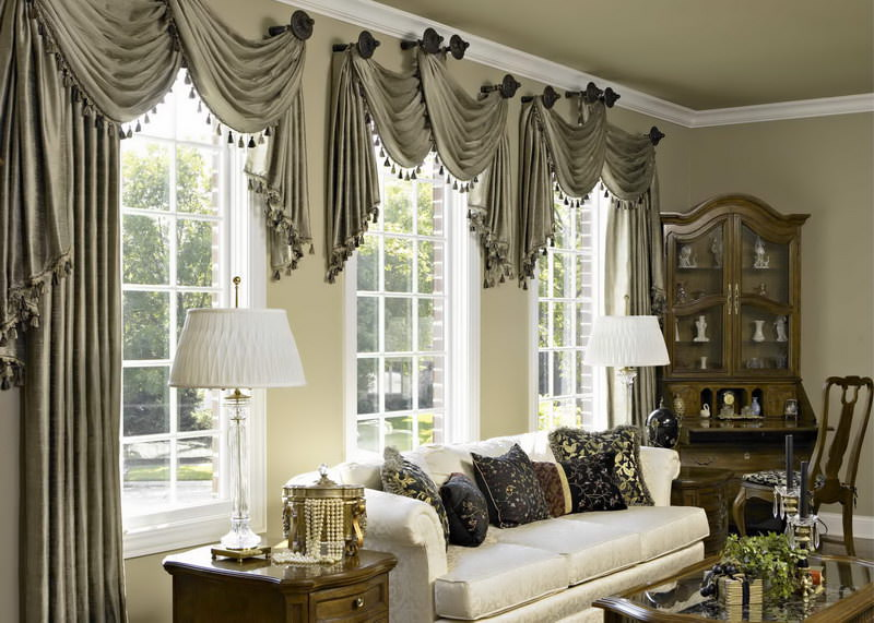 living room window with curtains design