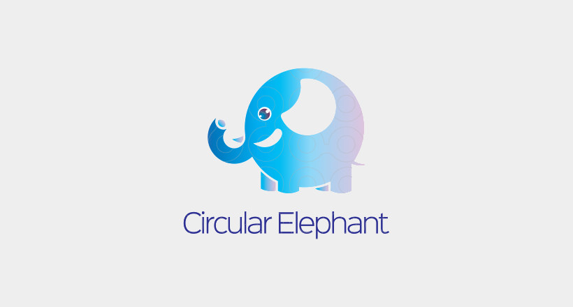 circular elephant logo