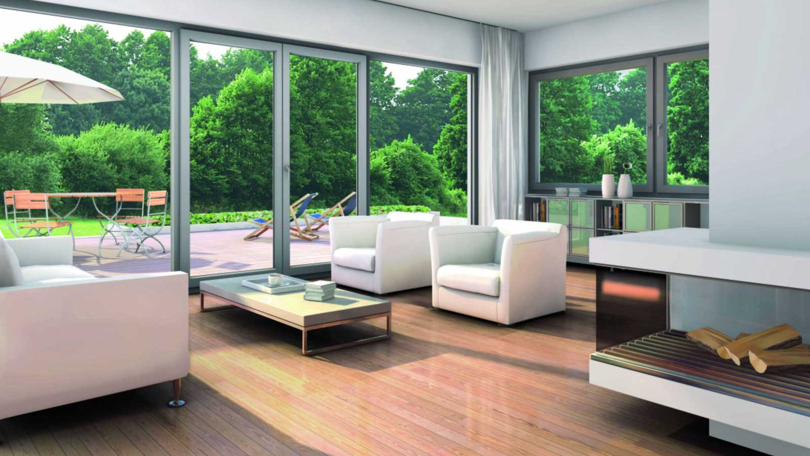 15 living room window designs decorating ideas design for Modern window house