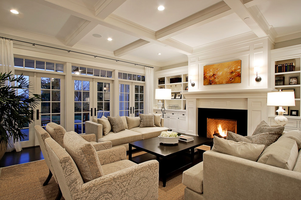 sophisticate square living room