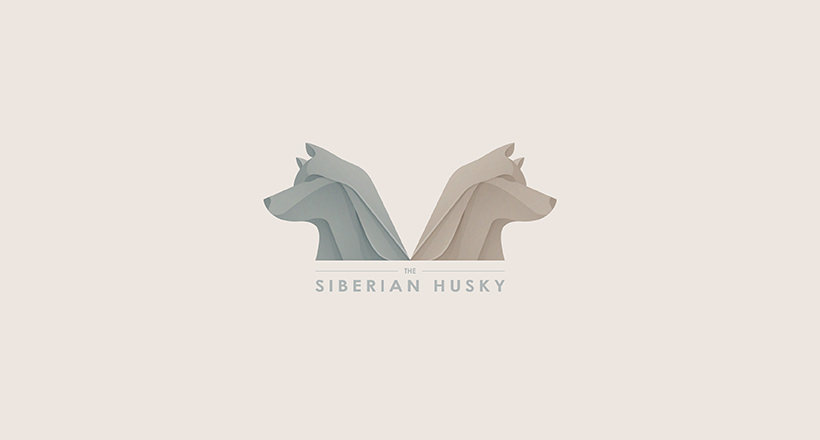 Dog Logo for Siberian Husky