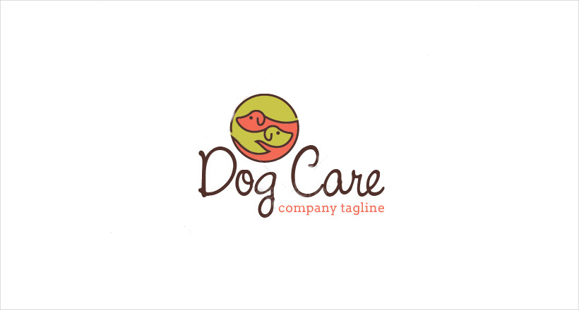 Dog Care Digital Logo